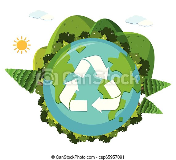 An earth recycle logo - csp65957091