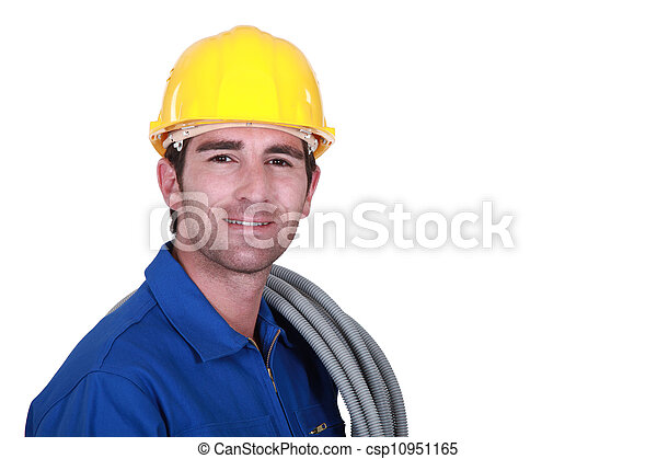 An electrician. - csp10951165