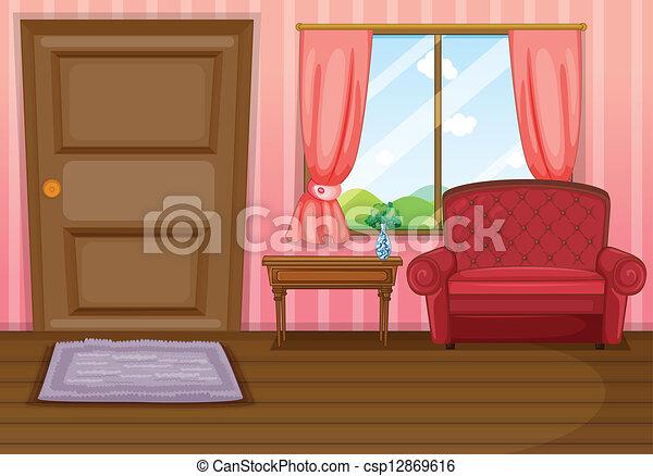 An empty living room - csp12869616