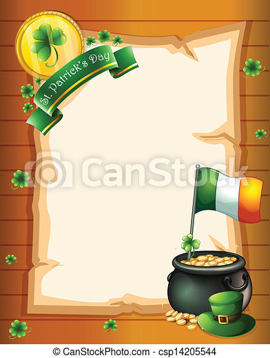 An empty paper template for St. Patrick's day - csp14205544