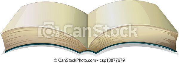 An empty thick book - csp13877679