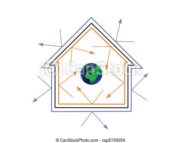 An energy efficiency concept vector illustration - csp5159354