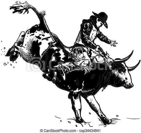 An hand drawn vector, freehand - Rodeo - csp34434841
