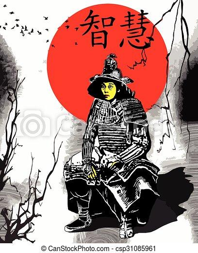 An hand drawn vector from Japan Culture - Samurai, Shogun - csp31085961