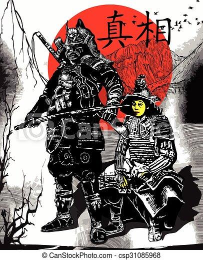 An hand drawn vector from Japan Culture - Samurais, Shoguns - csp31085968