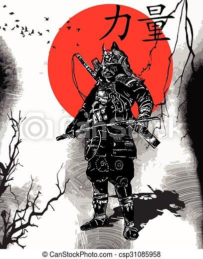 An hand drawn vector from Japan Culture - Samurai, Shogun - csp31085958