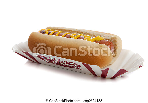 An hot dog with mustard - csp2634188