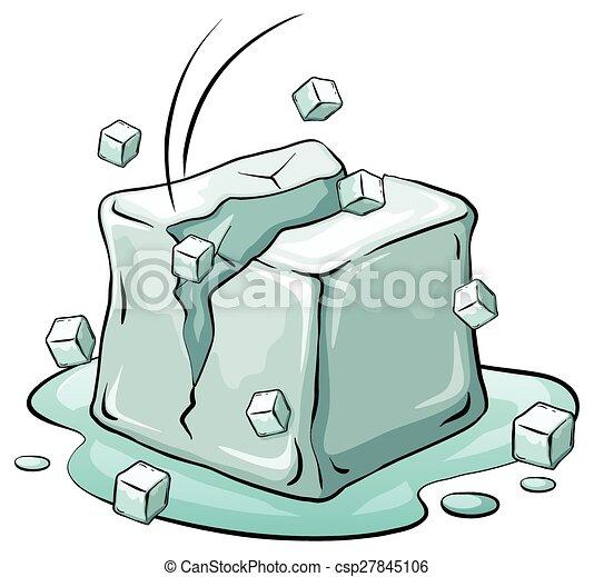 An ice cube - csp27845106
