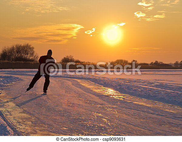 An ice skater - csp9093631