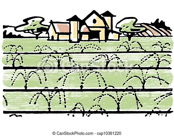 An illustration of a farmhouse - csp10361220