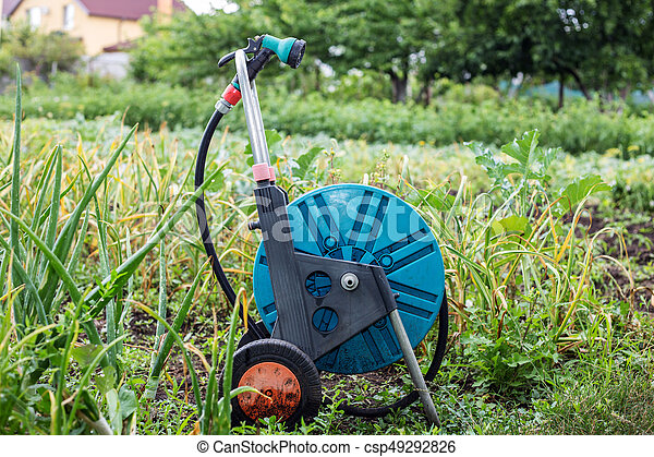 An image of a garden hose. Hose for irrigation - csp49292826