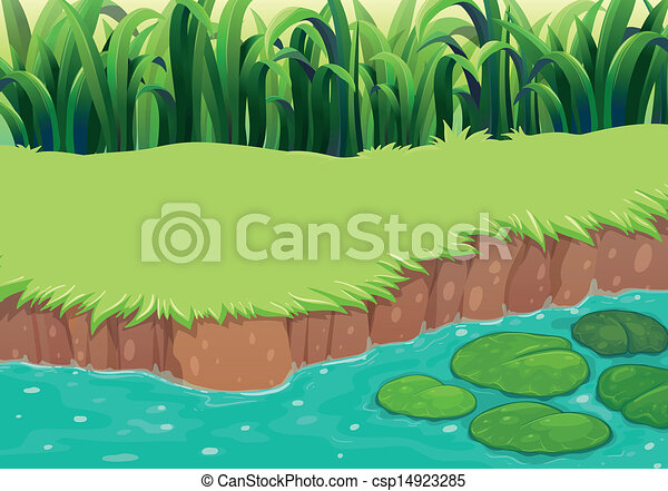 An image of a pond - csp14923285