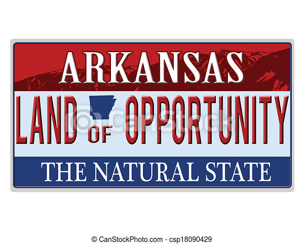 An imitation Arkansas license plate - csp18090429