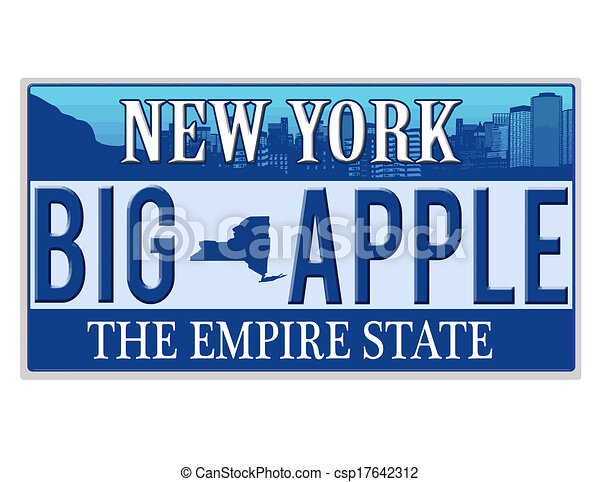 An imitation New York license plate - csp17642312