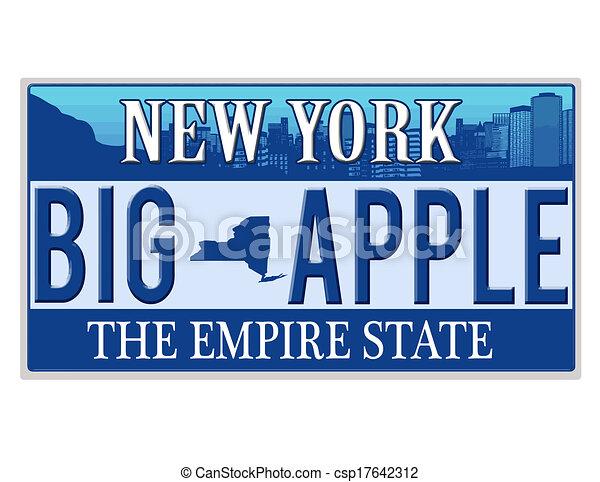 An imitation New York license plate - csp17642312