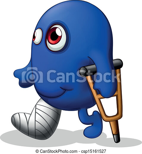 An injured blue monster - csp15161527