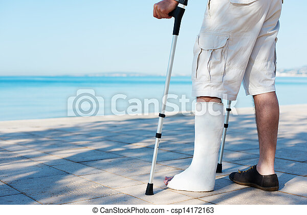 An Injured man with a plaster - csp14172163