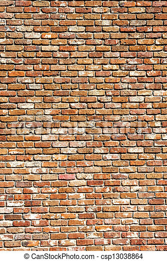 An old brick wall good for backgrounds or textures - csp13038864