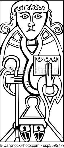 An old celtic symbol of Saint Luke - csp5595779