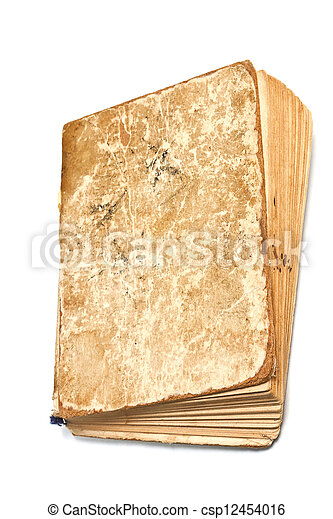 An old dog-eared book isolated - csp12454016
