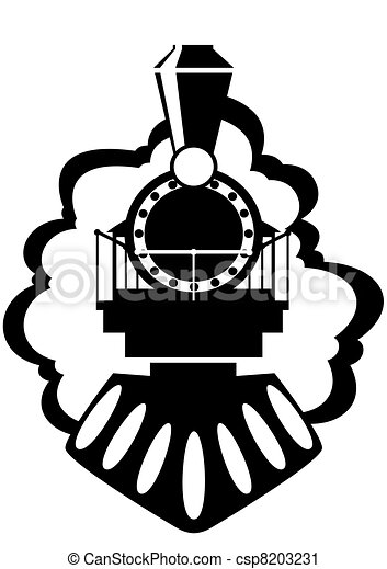 An Old Locomotive Vector Clip Art Csp on Vintage Steam Engine Drawings