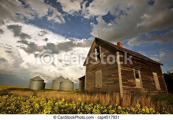 An old Saskatchewan homestead - csp4517931
