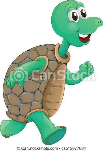 An old turtle running - csp13877684