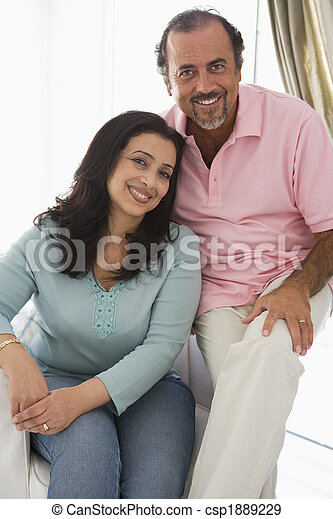 An older Middle Eastern couple - csp1889229