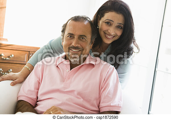 An older Middle Eastern couple - csp1872590