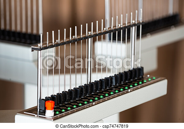 An unusual electronic installation of tubes - csp74747819