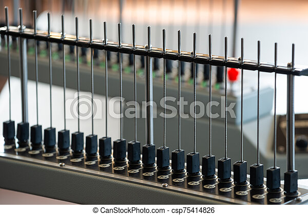 An unusual electronic installation of tubes - csp75414826