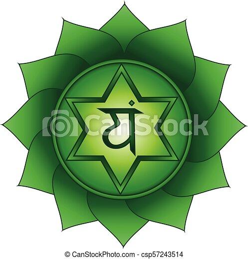 Anahata., corazón, chakra, cuarto, símbolo. Corazón, símbolo ...