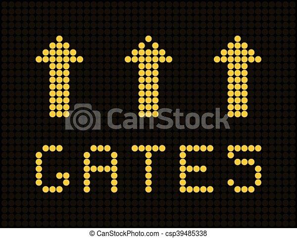 Analog airport board counter. - csp39485338