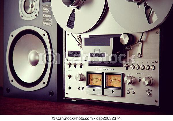 Analog Stereo Open Reel Tape Deck Recorder VU Meter Device - csp22032374