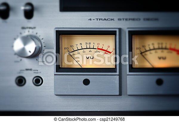 Analog Stereo Open Reel Tape Deck Recorder VU Meter - csp21249768