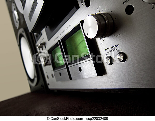 Analog Stereo Open Reel Tape Deck Recorder VU Meter - csp22032408