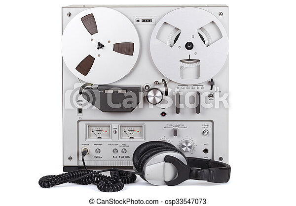 Analog Stereo Reel Tape Deck Recorder Player - csp33547073
