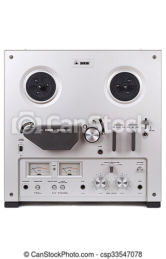 Analog Stereo Reel Tape Deck Recorder Player - csp33547078