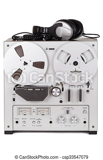Analog Stereo Reel Tape Deck Recorder Player - csp33547079