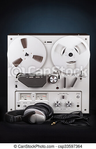 Analog Stereo Reel Tape Deck Recorder Player - csp33597364