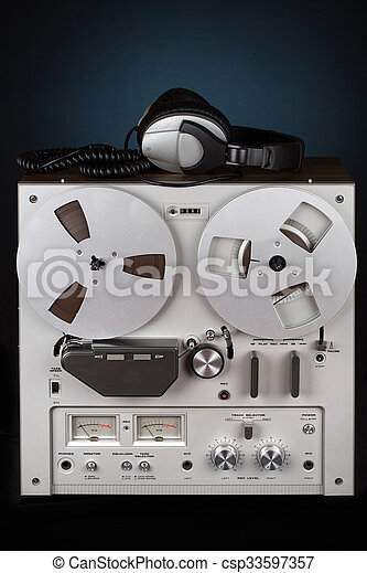 Analog Stereo Reel Tape Deck Recorder Player - csp33597357