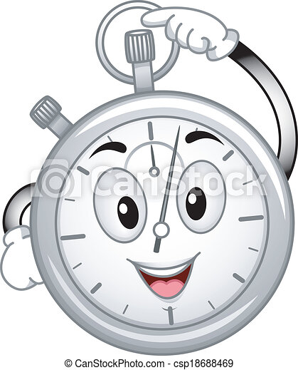 Analog Stopwatch Mascot - csp18688469