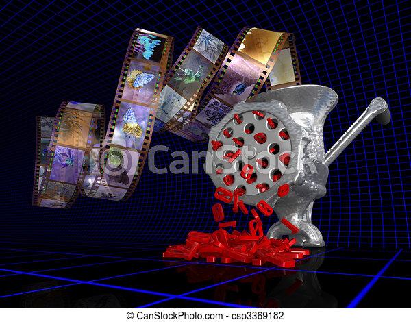 Free Line Art Converter : Analog to digital converter. metaphorical 3d illustration clip