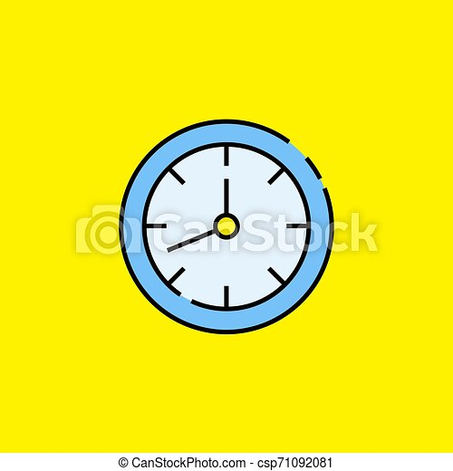Analogue clock line icon - csp71092081