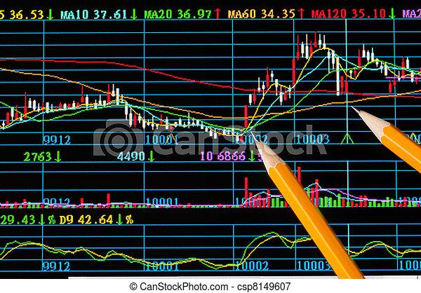 analyse, stockage, moniteur, coloré, diagramme - csp8149607