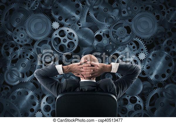 analyseren, systeem - csp40513477