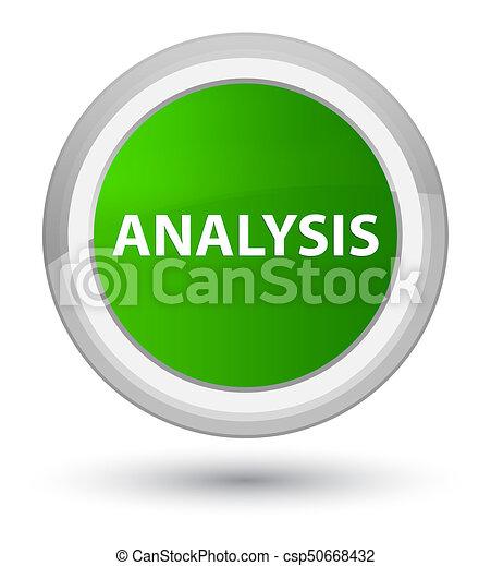 Analysis prime green round button - csp50668432