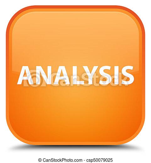 Analysis special orange square button - csp50079025