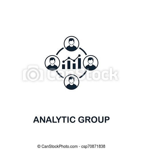 Analytic Group icon. Premium style design from business management icon collection. Pixel perfect Analytic Group icon for web design, apps, software, print usage - csp70871838