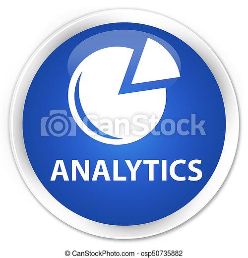 Analytics (graph icon) premium blue round button - csp50735882